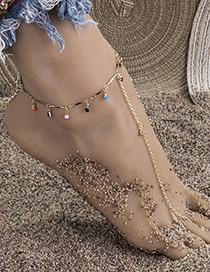 Fashion Color Alloy Chain Resin Band Ring Bracelet Anklet