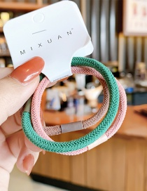 Fashion Mixed Colors (3 Pieces) No Hurt Hair Braid Hit Color Hair Rope Set