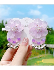 Fashion Floating Mesh Flower Butterfly Butterfly Alloy Fringe Hairpin Set