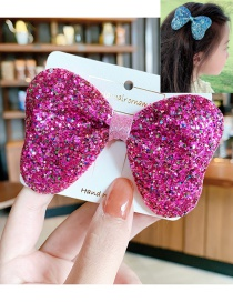 Fashion Type A-rose Red Color Sequin Butterfly Combined With Blonde Clip