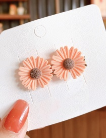 Fashion Orange Pink Little Daisy Resin Alloy Contrast Hairpin