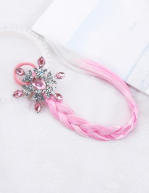 Fashion Sequin Pink Snowflake Net Yarn Butterfly Snowflake Animal Wig Braid Children Hair Rope