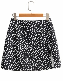 Fashion Black Polka Dot Printed Skirt