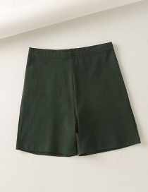 Fashion Dark Green Sports Yoga Fitness Bottoming Shorts