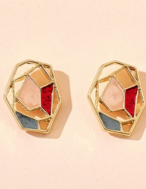 Fashion Irregular Geometrical Dropped Flower Alloy Hollow Earrings