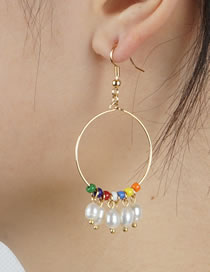 Fashion Pearl Pearl Tassel Earrings