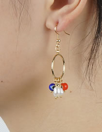 Fashion Pearl Pearl Long Tassel Earrings