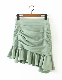 Fashion Green Draped Skirt
