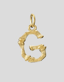 Fashion G-38+5 Bead Chain 26 Letters 316l Titanium Steel Gold Plated Necklace