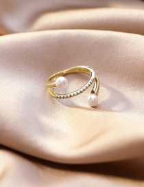 Fashion Section 2 Micro-set Zircon Stack Ring