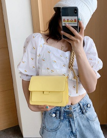 Fashion Yellow Braided Rope Flip Shoulder Messenger Bag