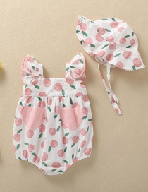 Fashion Pink Apple Baby Pack Fart Three Months Baby Clothes