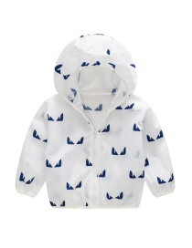 Fashion White Hooded Outdoor Sun Protection Clothing