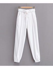 Fashion White Straight Trousers
