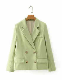 Fashion Green Double-breasted Short Suit Jacket