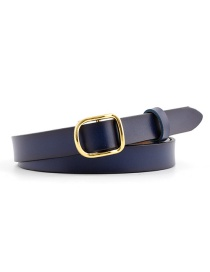 Fashion Navy Blue Thin Belt Candy Color Knotted Belt