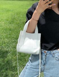 Fashion White Stitching Contrast Shoulder Bag