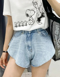 Fashion Blue Denim Shorts