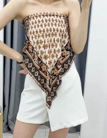 Fashion Color Elastic Band Wrap Printed Tube Top Apron