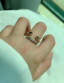 Fashion Golden Tapered Diamond Multi-layer Alloy Ring