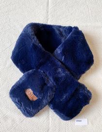 Fashion Blue Velvet Scarf