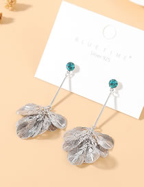 Fashion Platinum Feather True Gold Plated S925 Silver Pin Earrings
