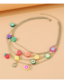 Fashion Color Fruit Mix And Match Multi-layer Necklace