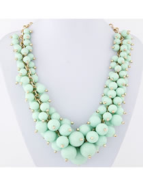 Fashion Lake Green Grape Handmade Bead Necklace