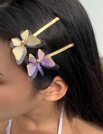 Fashion Purple Butterfly Clip Three-dimensional Butterfly Resin Alloy Hairpin Hair Rope