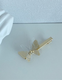 Fashion Transparent Butterfly Duckbill Clip Three-dimensional Butterfly Resin Alloy Hairpin Hair Rope