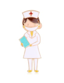 Fashion Color Alloy Oil Drop Nurse Brooch
