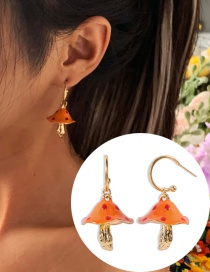Fashion Golden Dripping Mushroom Alloy Earrings