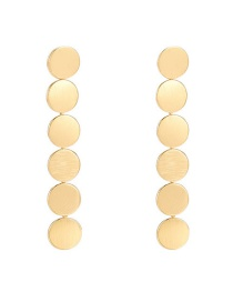 Fashion Golden Alloy Round Chain Earrings