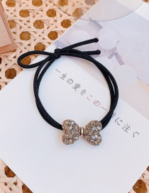 Fashion Bow Bow Tie Rhinestone Five-pointed Star Alloy Hair Rope