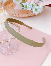 Fashion Matte Green Folded Thin Edge Toothed Non-slip Resin Headband