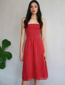 Fashion Red Polka Dot Print Dress
