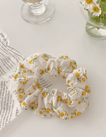 Fashion Yellow Flowers Floral Check Fabric Head Rope
