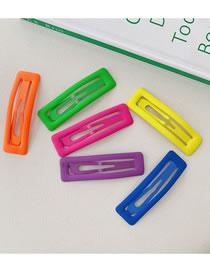 Fashion Fluorescent Color Square-6 Pieces Set Of 6 Fluorescent Hairpins