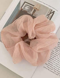 Fashion Girlish Pink Net Yarn Solid Color Head Rope