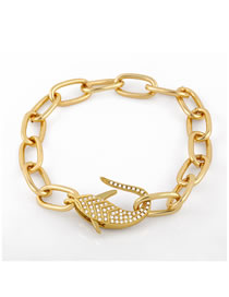 Fashion Fish Bracelet Fish Chain Lobster Bracelet With Diamond Thick Chain