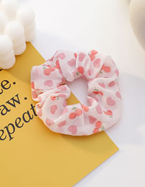 Fashion Pink Fruit Print Large Intestine Ring Hair Rope