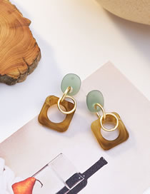 Fashion Brown Geometric Acrylic Alloy Contrast Earrings