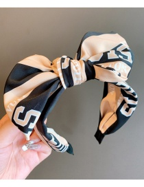 Fashion Bow Knot-black Letter Wide Side Non-slip Bow Knotted Headband