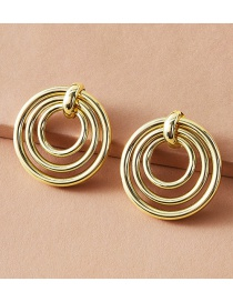 Fashion Golden Round Irregular Alloy Hollow Earrings