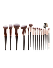 Fashion Black Gradient Color Makeup Brush Set
