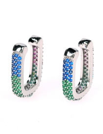 Fashion Rehearsal Crystal Copper Inlaid Zircon Geometric U-shaped Non-pierced Ear Bone Clip