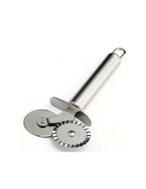 Fashion Silver Double-headed Pizza Roller With Stainless Steel Handle