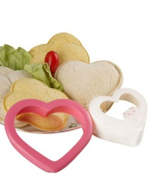 Fashion Outer Ring Pink Love Beige Sandwich Love Bread Mold (with Pattern)