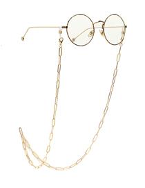 Fashion Golden Hollow Geometric Alloy Eye Chain
