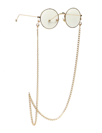 Fashion Golden Thin Aluminum Chain Anti-skid Alloy Glasses Chain